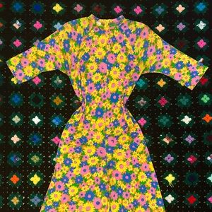 1960s/70s vintage flower power full length romper